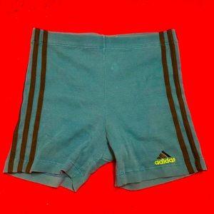 Vintage teal ribbed bike shorts